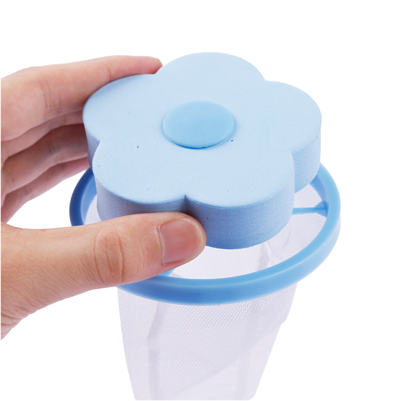 Honana Home Flower Shape Washing Machine Cleaning Accessory Lint Hair Filter Remove Tool Mesh Bag