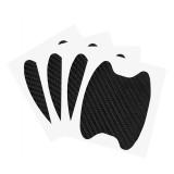 4Pcs Universal Carbon Fiber Car Side Door Handle Guard Stickers Scratch Paint Protective Films