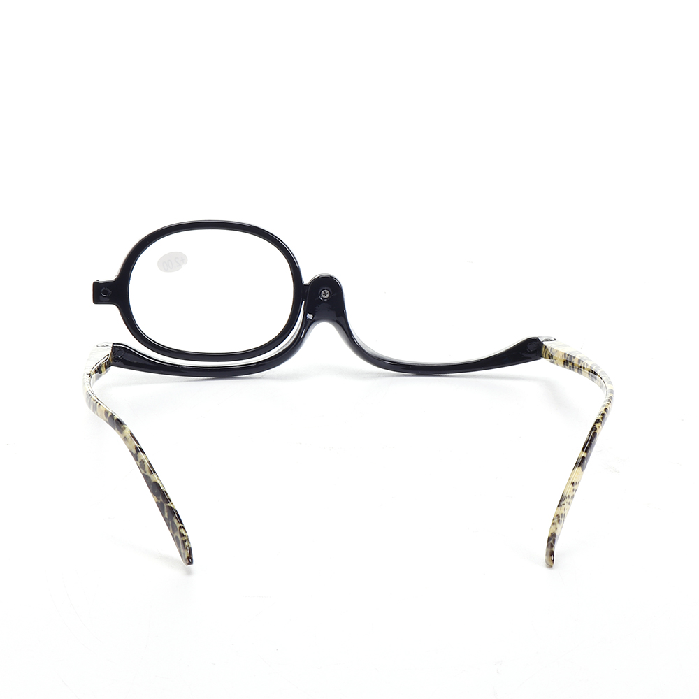 0d0389a938cd Womens Magnifying Makeup Reading Glasses Flip Down Lens Folding ...