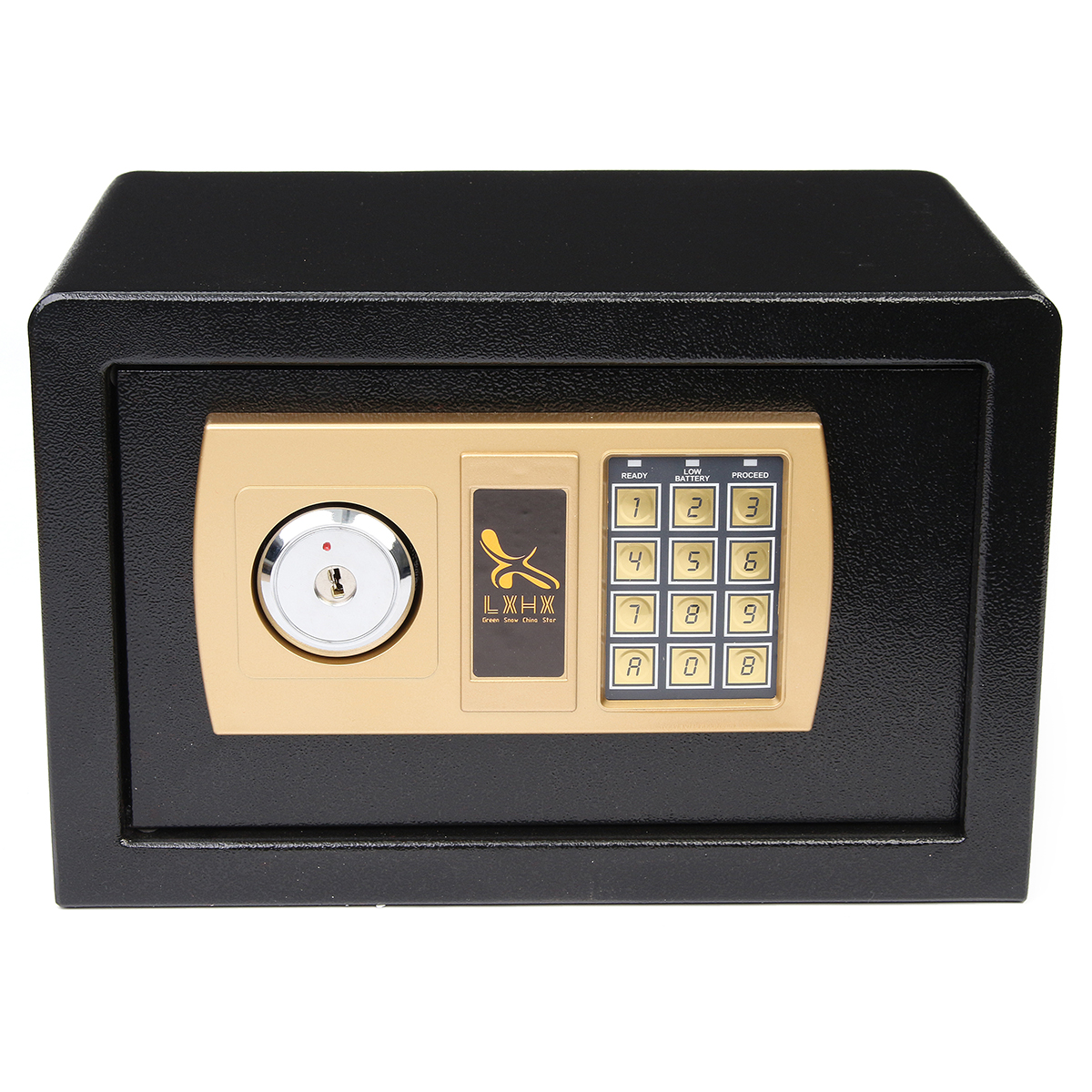 Digital Depository Drop Cash Safe Box Jewelry Home Hotel Lock Keypad Black