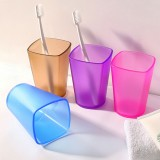 Honana WX Eco-friendly Japanese-style Thick Circular Cup Toothbrush Holder Cup Translucent