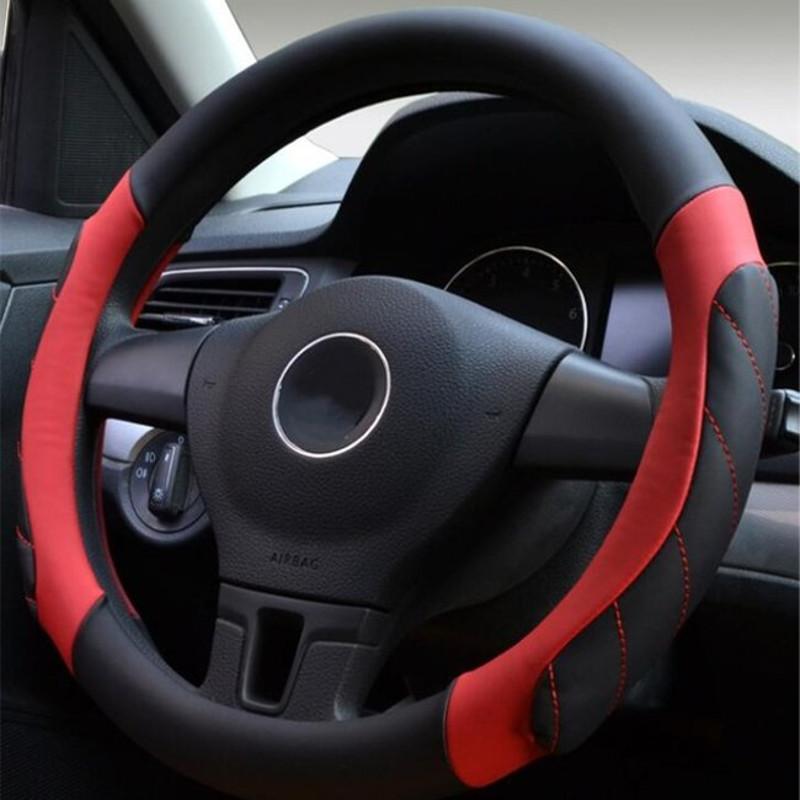 38cm universal leather sport car auto steering wheel