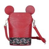 Brenice Women Cute Animal Shape Phone Sling Bag Shoulder Crossbody Bag Bucket Bag