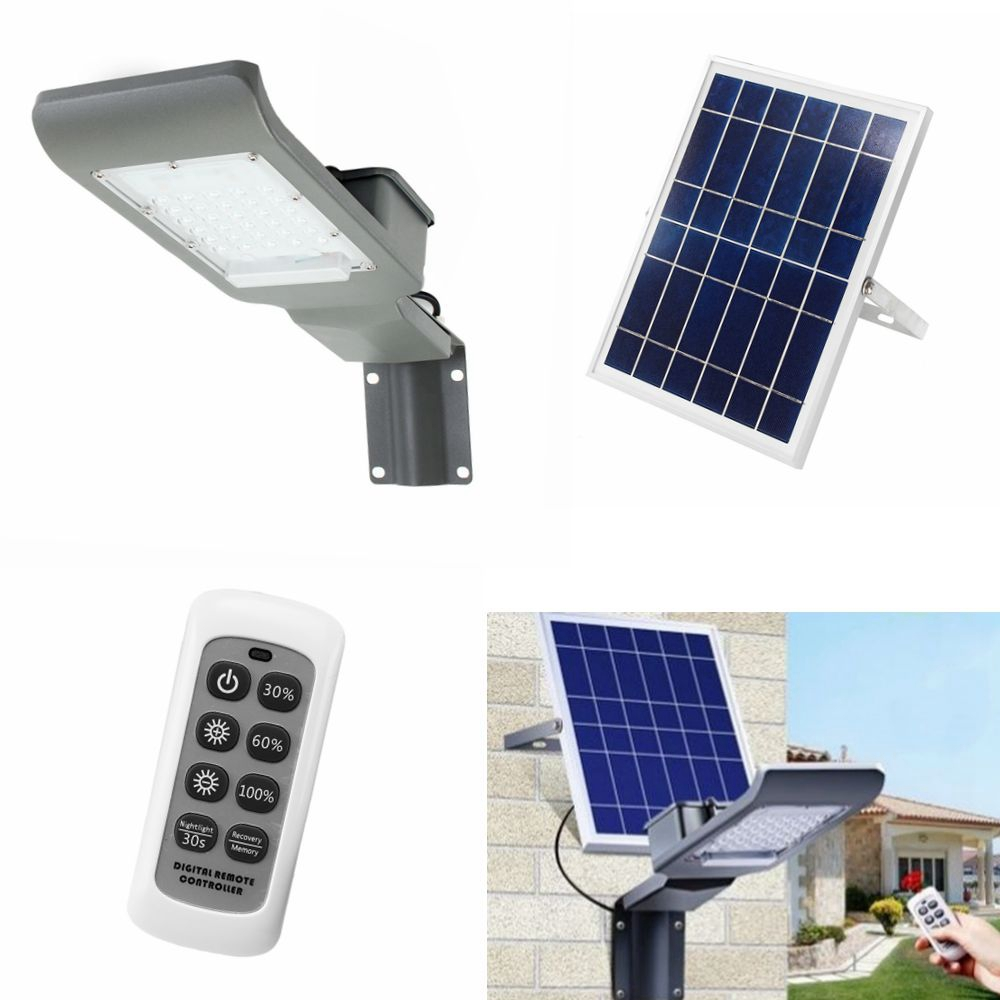 Outdoor Led Light With Remote: 30W Waterproof 30 LED Solar Light With Wall Suction Light