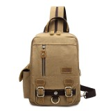 Multi-function Canvas Casual Bag Messenger Bag Shoulder Bag Small Backpack For Men Women
