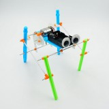 DIY Electric Four Legged Walking Robot Educational Toy Robot Assembled Toy For Children