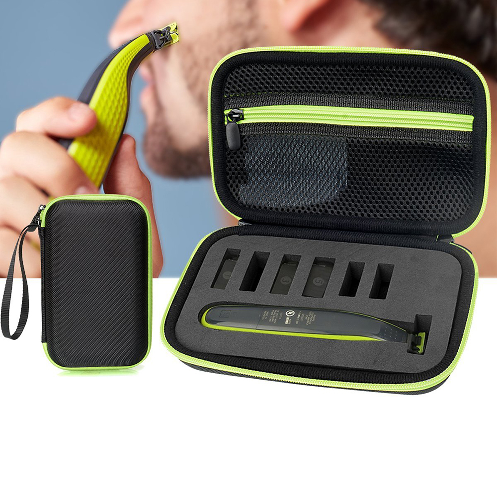shaver pouch carrying case for philips norelco oneblade hydbrid electric hair trimmer razor. Black Bedroom Furniture Sets. Home Design Ideas