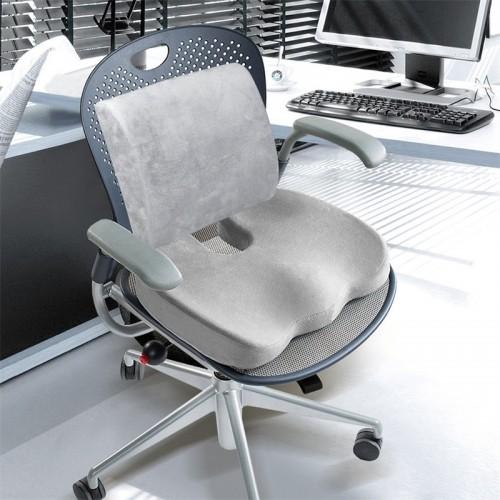 Memory Foam Seat Cushion Lumbar Back Support Orthopedic Car Office Pain Relief Pad