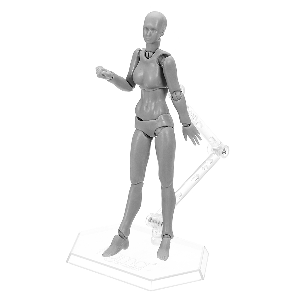 Figma Archetype Action Figure Doll PVC M2 0 Body Female Grey Color Model  Doll For Decoration