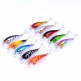 ZANLURE 10pcs/set 5.7cm 4.4g Minnow Fishing Lure 0.3m–1.2m Depth Artificial Hard Bait Wobbler Carp