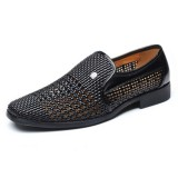 Men Breathable Hollow Outs Slip On Leather Business Formal Shoes
