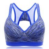 Mixed Yarn Shockproof Gathered Fitness Sports Bra Wireless Comfort Moving Sportswear