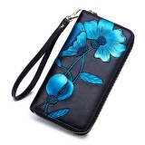 Brenice Women RFID Blocking Bohemian Floral Clutch Bag 8 Card Slots Coin Purse Long Wallet