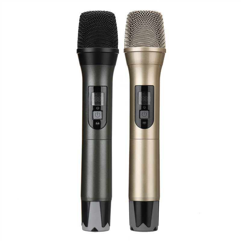 uhf usb fm karaoke handheld microphone ktv professional player pc mic speaker. Black Bedroom Furniture Sets. Home Design Ideas