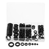 Suleve MXRW4 200Pcs Rubber Wires Harness Grommets Protect Wires Rubber Ring Sealing Grommet 3-20mm