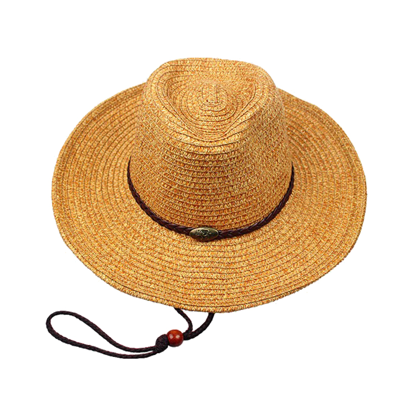 9b83013d7b0810 More Detail: More Detailed Photos: Unisex Panama Folding Straw Cowboy Hat  Classic Western Beach Sun Wide Brim Bucket Caps