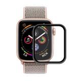 ENKAY Hat-Prince 0.2mm 9H 3D Aluminum Alloy Frame Full Screen Glass Film for Apple Watch Series 4 40mm (Black)