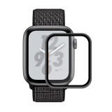 ENKAY Hat-Prince 0.2mm 9H 3D Aluminum Alloy Frame Full Screen Glass Film for Apple Watch Series 4 44mm (Black)
