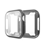Full Coverage Plating TPU Case for Apple Watch Series 4 44mm (Black)