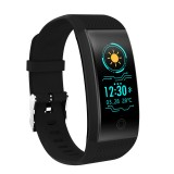QW18 Fitness Tracker 0.96 inch HD Color Screen Smartband Smart Bracelet, IP68 Waterproof, Support Sports Mode / Sleep Monitor / Bluetooth Camera / Heart Rate Monitor (Black)