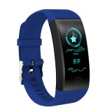 QW18 Fitness Tracker 0.96 inch HD Color Screen Smartband Smart Bracelet, IP68 Waterproof, Support Sports Mode / Sleep Monitor / Bluetooth Camera / Heart Rate Monitor (Blue)