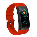 QW18 Fitness Tracker 0.96 inch HD Color Screen Smartband Smart Bracelet, IP68 Waterproof, Support Sports Mode / Sleep Monitor / Bluetooth Camera / Heart Rate Monitor (Red)