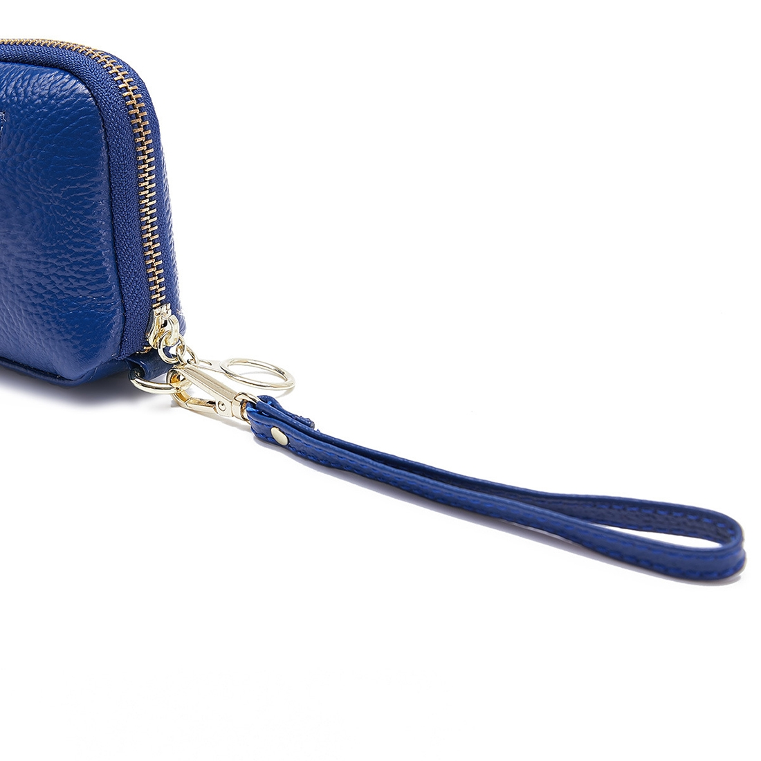 2-Folding Square Genuine Leather Handbag (Blue)