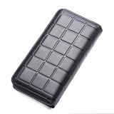 903 Antimagnetic RFID Female Large Capacity Casual Square Organ Card Bag/ wallet/ Clutch Bag (Black)