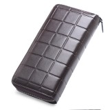 903 Antimagnetic RFID Female Large Capacity Casual Square Organ Card Bag/ wallet/ Clutch Bag (Coffee)