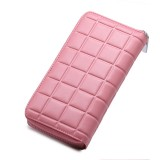 903 Antimagnetic RFID Female Large Capacity Casual Square Organ Card Bag/ wallet/ Clutch Bag (Pink)