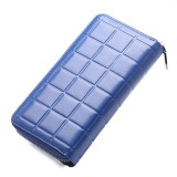 903 Antimagnetic RFID Female Large Capacity Casual Square Organ Card Bag/ wallet/ Clutch Bag (Blue)