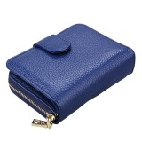KB132 Female Style Full Grain Cow Leather Multifunctional Wallet/ Card Bag/ Driving License Package (Blue)