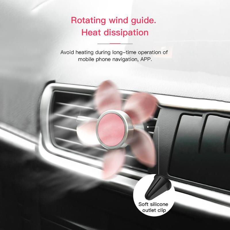 Universal Car Charger Air Vent Mount Phone Holder Stand, For iPhone, Galaxy, Sony, Lenovo, HTC, Huawei and other Smartphones (Rose Gold)