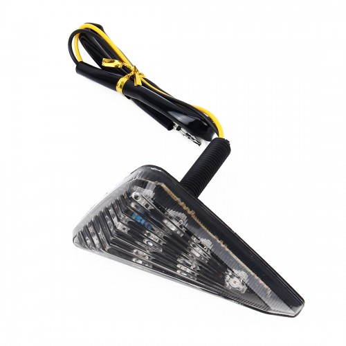 2 PCS Triangle Shape DC 12V Motorcycle 9-LED Yellow Light Turn Signal Indicator Blinker Light