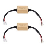 2 PCS H1 H3 LED Headlight Canbus Error Free Computer Warning Canceller Resistor Decoders Anti-Flicker Capacitor Harness