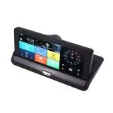 7 inch Car DVR Rearview Mirror Dual Camera WiFi GPS Driving Video Recorder Bluetooth Hands-free Car Dash Cam