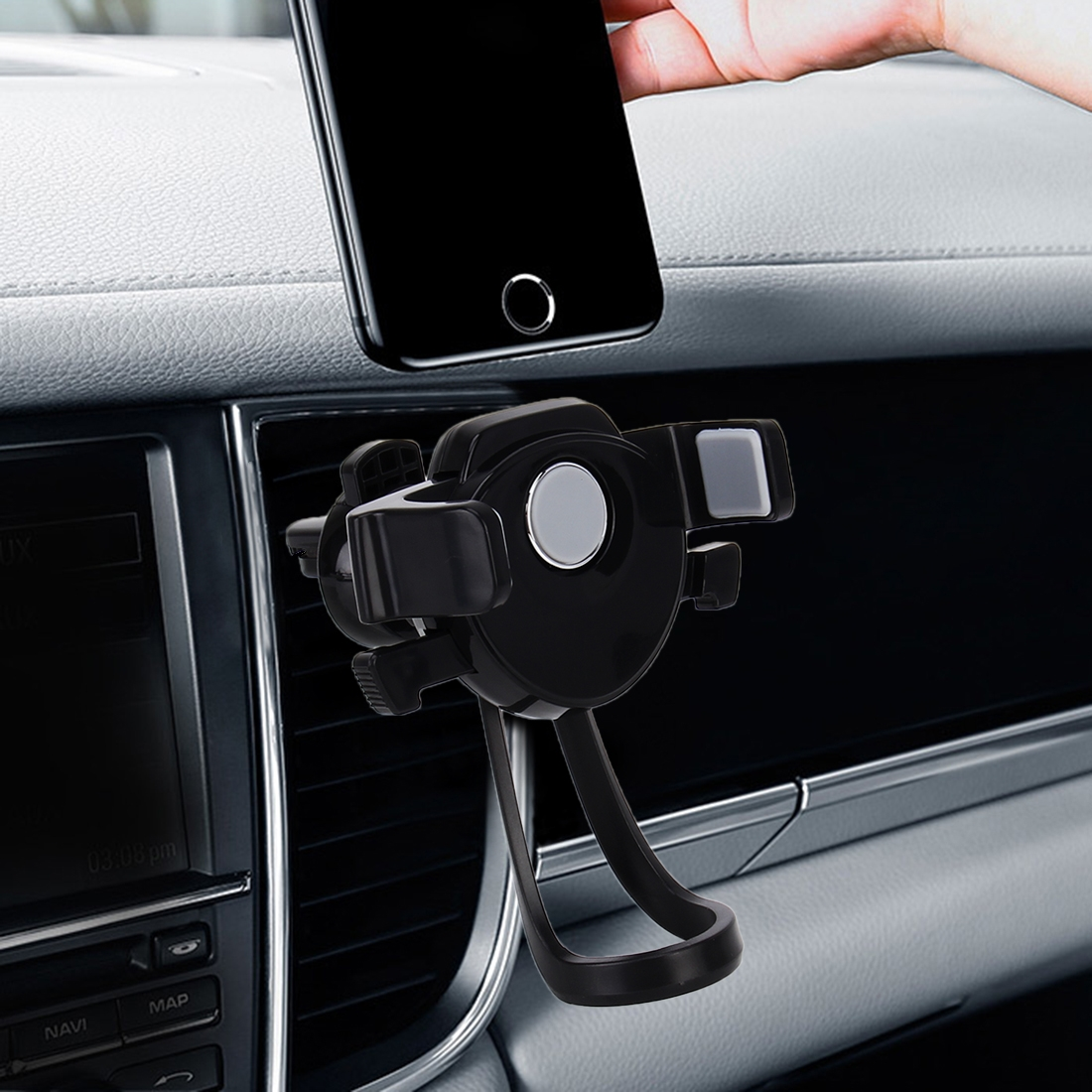 Universal Car Charger Air Vent Mount Phone Holder Stand, For iPhone, Galaxy, Sony, Lenovo, HTC, Huawei and other Smartphones (Width: 64-82mm)