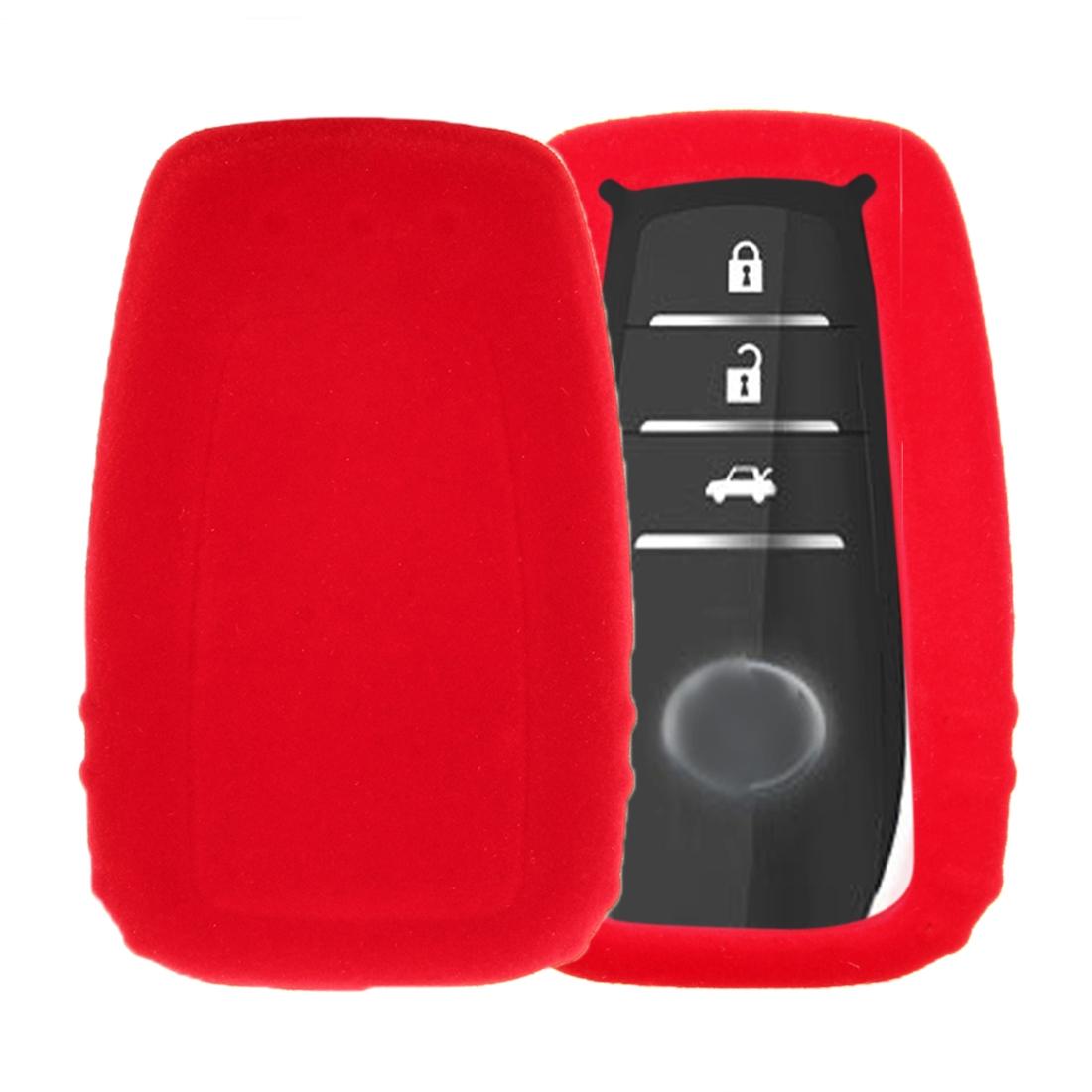 Toyota Camry Singapore 2018 >> Car Remote Key Holder Flannel TPU Protective Case for Toyota 2018 Camry, Prado (Red) | Alexnld.com
