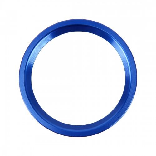 Car Engine Start Key Push Button Ring Trim Aluminum Alloy Sticker Decoration for Audi (Blue)