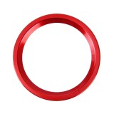 Car Engine Start Key Push Button Ring Trim Aluminum Alloy Sticker Decoration for Audi (Red)