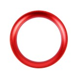 Car Engine Start Key Push Button Ring Trim Aluminum Alloy Sticker Decoration for Mazda (Red)