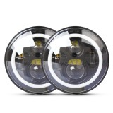2 PCS 7 inch IP68 Waterproof 6500K 75W CREE LED Headlight Hi/Lo Beam Driving Lamp for Jeep Wrangler JK TJ LJ
