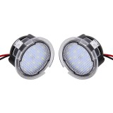 2 PCS DC 12V 2W 6000K 120LM 18-LED Side Rear View Mirror Puddle Lights Lamp for Ford 2013-2017 Explorer/2015-2017 Taurus/2015-2017 Edge/2015-2017 Mondeo