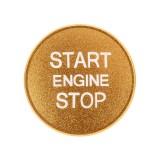 Car Engine Start Key Push Button Cover Trim Aluminum Alloy Sticker Decoration for Audi (Gold)