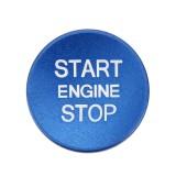 Car Engine Start Key Push Button Cover Trim Aluminum Alloy Sticker Decoration for Audi (Blue)