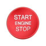 Car Engine Start Key Push Button Cover Trim Aluminum Alloy Sticker Decoration for Audi (Red)