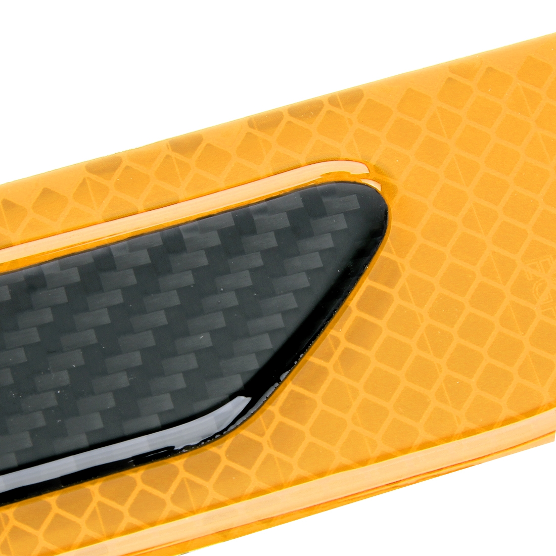 2 PCS Carbon Fiber Car-Styling Fender Reflective Bumper Decorative Strip, External Reflection + Inner Carbon Fiber (Yellow)