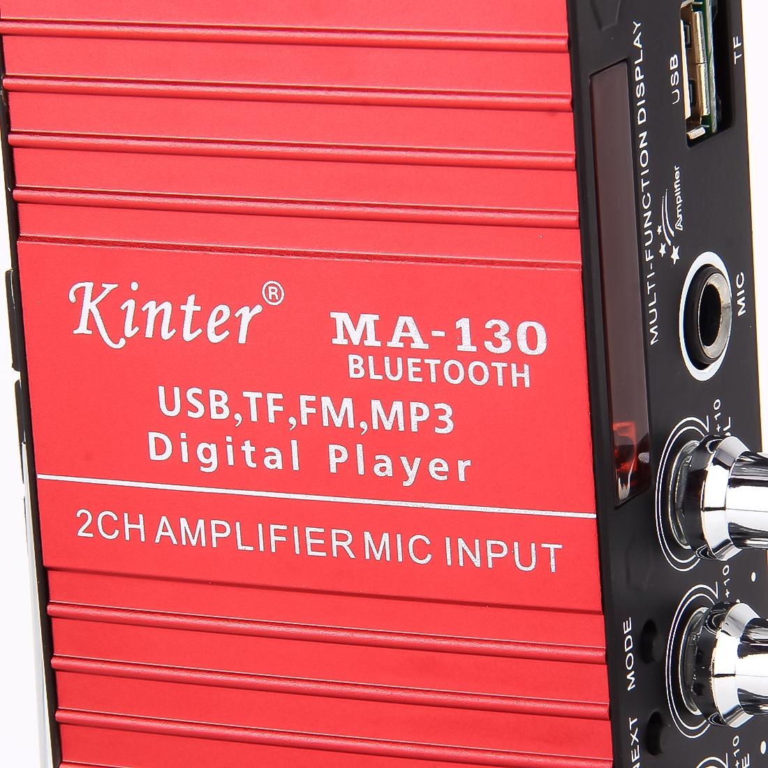 MA-130 2CH Car Amplifier Audio, Support Bluetooth, MP3, USB, FM, TF with Remote Control DC 12V