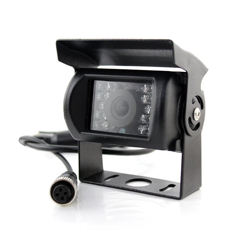 7.0 inch LCD Visible Rear View Mirror Car Recorder for Truck with Parking Rear Camera + 4 Rear Radar + Parking Sensor