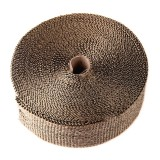 10m Titanium Gold Exhaust Wrap Auto Motor Exhaust Heat Shield Wrap Heat Resistant Wrap